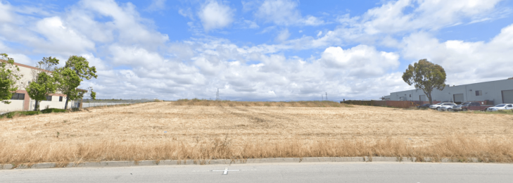 An image of an empty lot at Castroville Industrial Park